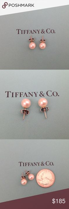 Tiffany & Co. Pearl Earrings Authentic sterling silver and genuine fresh water pearl Tiffany earrings.  The earrings are in excellent used condition and come with the Tiffany box and pouch. Pearl size 8-9mm. 🚫NO TRADES 🚫Poshmark gets 20% of all sales, so please keep that in mind when submitting an offer. Tiffany & Co. Jewelry Earrings