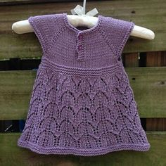 "Ravelry: Paulina Dress pattern by Taiga Hilliard Designs [ ""Paulina Baby Knit dress Plus"", ""Paulina Dress is a classic little dress with a simple lace skirt."", ""Free Pattern Friday: Our Most Popular Patterns"", "" You Baby Knitting Patterns, Knitting For Kids, Baby Patterns, Free Knitting, Knitting Yarn, Knit Baby Dress, Knit Baby Booties, Baby Cardigan, Little Dresses"