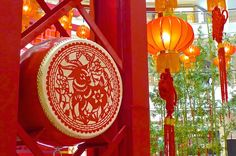 One of the many at Suria Chinese New Year Decorations, New Years Decorations, 2015 Chinese New Year, Chinese Drum, Xmas, Christmas, Drums, China, Pop