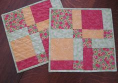 Snack mat in Spring colors pinks yellow and by WarmandCozyQuilts, $18.00