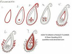 How to draw Paisley Flower 22 by *Quaddles-Roost on deviantART
