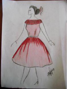 Classic fashion sketch