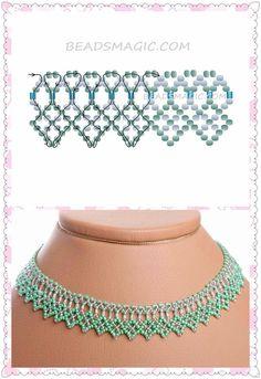 Resultado de imagen para patrones de collares en mostacillas