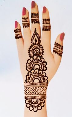 Very Simple Mehndi Designs, Mehndi Designs Front Hand, Mehndi Designs For Kids, Henna Tattoo Designs Simple, Mehndi Designs Feet, Mehndi Designs For Beginners, Mehndi Design Photos, Mehndi Simple, Mehndi Designs For Fingers