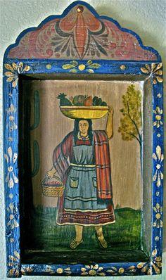 Vintage Mexican Hanging Folk Art.
