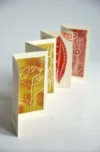 Little book printed with Craft Foam. Students can make stamps based on a theme and share to make an artist's book
