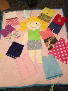 Girls paper doll activity blanket