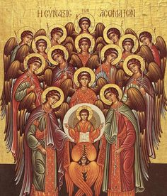 Michael, Gabriel, and Raphael, Archangels - September 2014 - Liturgical Calendar Byzantine Icons, Byzantine Art, Religious Icons, Religious Art, Christian Artwork, Russian Icons, Spiritus, Biblical Art, Art Icon
