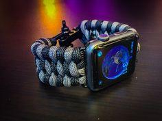 Apple Watch Paracord Band - Dual Color Trilobite Weave, Stainless Steel Adjustable Clasp, 550lb MILSPEC cord