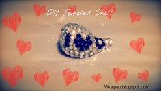 DIY Jeweled Shell  #love #valentinesday #gifts #quickdiy #DIY #crafts #jeweledshell #shellcrafts