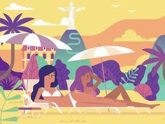 Girl on the beach by Dmitry Stolz #Design Popular #Dribbble #shots