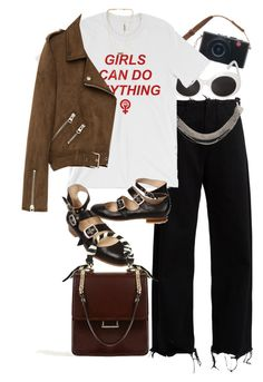 """""""Untitled #10403"""" by nikka-phillips ❤ liked on Polyvore featuring Marques'Almeida, Yves Saint Laurent, Vivienne Westwood, NLY Accessories and Freebird"""