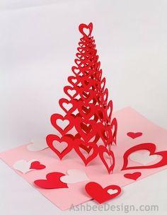 3d valentine tree - Valentine Paper Crafts