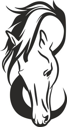 Horse Head Silhouette by GDJ - Angela Barbour - Pferd Horse Stencil, Animal Stencil, Stencil Art, Stencils, Horse Drawings, Animal Drawings, Art Drawings, Horse Head Drawing, Animal Silhouette