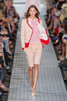 Tommy Hilfiger at New York Fashion Week Spring 2013 - Runway Photos Fashion Line, New York Fashion, Love Fashion, Tommy Hilfiger, Tailored Shorts, Preppy Style, Fashion Prints, Passion For Fashion, Ready To Wear