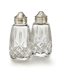 WATERFORD CRYSTAL Lismore Salt & Pepper Shakers $145 - FREE SHIPPING OR PICK UP