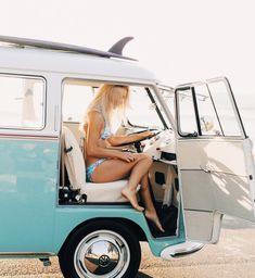 Volkswagon Van, Volkswagen Minibus, Vw T1, Vw Passat, Volkswagen Transporter, Vans Girls, Surf Girls, Combi T1, Bus Girl