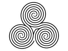labyrinth | Finger Labyrinth | Letters from a Briton ~ Triskele -- my tattoo incorporates this!!
