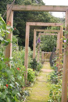 arbors in kitchen garden Sussex England
