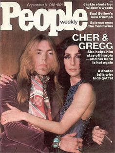 September 1975 COVER STORY Gregg's 'Beautiful Butterfly' Now That Cher Has Helped Show Him the Way to Sobriety, Gregg Allman Takes to the Road Again with The Allman Brothers Band People Magazine, My Magazine, Magazine Covers, Magazine Stand, Old Magazines, Vintage Magazines, Chaz Bono, Allman Brothers, My Generation