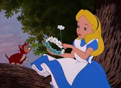 Screencap Gallery for Alice in Wonderland Bluray, Disney Classics). Disney version of Lewis Carroll's children's story. Alice becomes bored and her mind starts to wander. Walt Disney, Disney Love, Disney Magic, Disney Art, Alice Disney, Alice In Wonderland 1951, Adventures In Wonderland, Disney Animation, Animation News