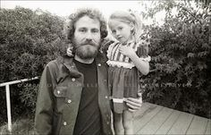 Levon Helm and his daughter Amy. Levon will be missed.