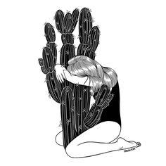 Tình đơn phương cũng giống như việc ôm cây xương rồng vào lòng, càng ôm chặt càng tổn thương. (Ảnh: Internet)