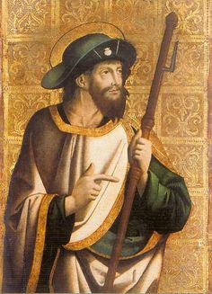 """Paolo di Sanlocadio (Reggio Emilia 1447 - Valencia 1520), """"San Giacomo di Compostella"""""""
