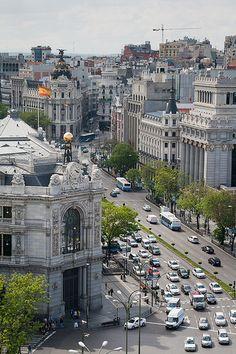 Calle Alcalá - Madrid | por hydrosound Palacio de Comunicaciones