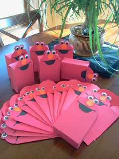 Elmo favor boxes set of 12 by CraftsbyRosa on Etsy, $15.00
