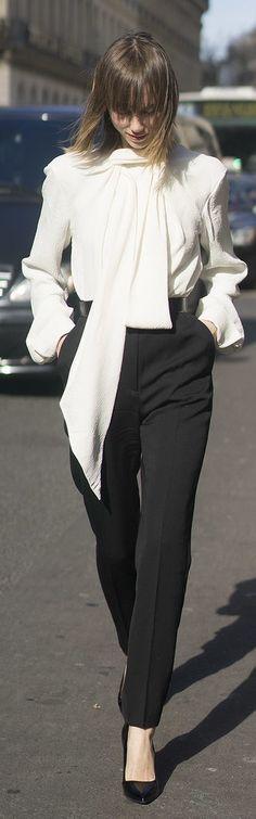 Paris Fashion Week street style: Anya Ziourova