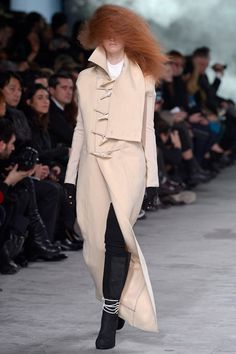 This coat is insane. I actually like the huge toggles. #FW2013 #PFW #RickOwens