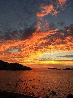 Acapulco!/ ¿Quién no quiere vivir un atardecer así?
