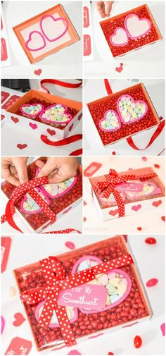 DIY Valentine Heart Candy Gift Box