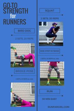 Go to strength moves for runners from RunFarGirl