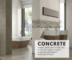 The Concrete range takes neutral kitchen to a whole new level, with that stylish, easy-on-the eye tone and elegant finish. Free sample available #tiles #bathroom #kitchen #ceramic #concretelook #design #interiordesign #2017style (http://www.directtilewarehouse.com/concrete-wall-tiles-beige-tiles/)