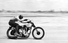"HOTOGRAPHY OF BOB MAGILL | EPIC IMAGES OF VINTAGE AMERICAN MOTORCYCLING  ""Unknown rider, unknown race. At speed.""  –caption by Dean Adams"