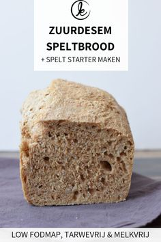 Homemade sourdough spelt bread with a sourdough starter. This recipe does not contain yeast and is low FODMAP. You only need spelt flour, water and salt. Spelt Sourdough Bread, Sourdough Recipes, Bread Recipes, Pastry Recipes, Potato Recipes, Cake Recipes, Fodmap Breakfast, Protein Breakfast, Fodmap Recipes