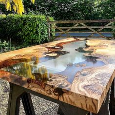 Epoxy Wood Table, Resin Art, Villa, Outdoor Decor, Instagram, Home Decor, Desk Accessories, Modern Dining Rooms, Houses