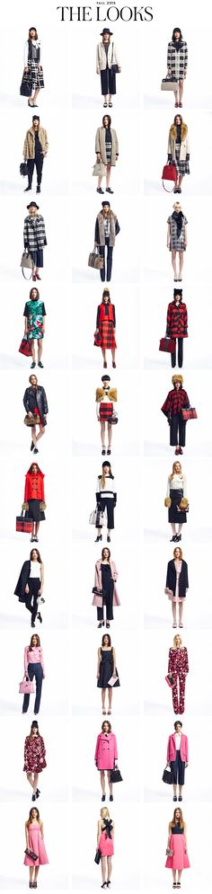 the Looks from New York Fashion Week 2015 | Kate Spade New York.  Want:  Navy bow dress, pink/black dress with bow on back