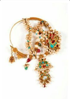 Jewelry Sets Selfless India Traditional Bollywood Choker Gold Plated Tikka Earrings Sets For Girls Beautiful In Colour