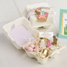 Stampin' Up! Mini Egg Cartons all dressed up.