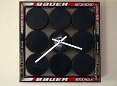 The Perfect Clock For A Hockey Fan DIY - http://www.diyscoop.com/the-perfect-clock-for-a-hockey-fan-diy/