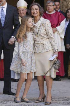La reina Sofía con la princesa de Asturias