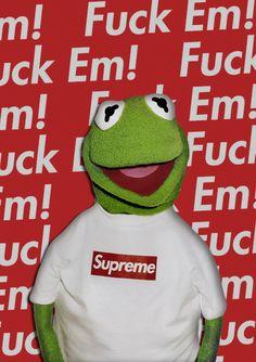 Supreme x Kermit Poster Design (2016)