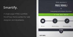 Smartify - Single Page HTML5 Po... Wordpress Theme   DOWNLOAD & REVIEW