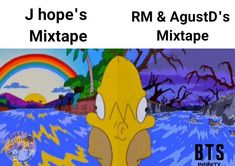 This is so true though! I was expecting depression and strong language like RM and Agust's but instead we got rainbows and happy melodies