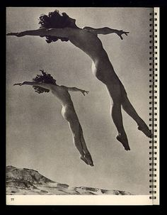 Vasta Images/Books: Body Beautiful: Five Volumes New York 1930s Nude dancers, flying. Inspired by Riebicke or Munkacsi or both. Joseph Vasta Blog Rare and Unusual 19th and 20th Century Images