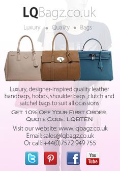 New Flyer for LQBagz. Tweet, Like and Repin to share! :)