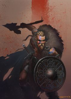 Ragnar Lothbrok, a viking who's name in know in Scandinavia, after defeating the earl of his town. Ragnar is very strategic and knows how to handle a sword in battle. Ragnar who be a very good person to base my main character of as he is a very able hero.